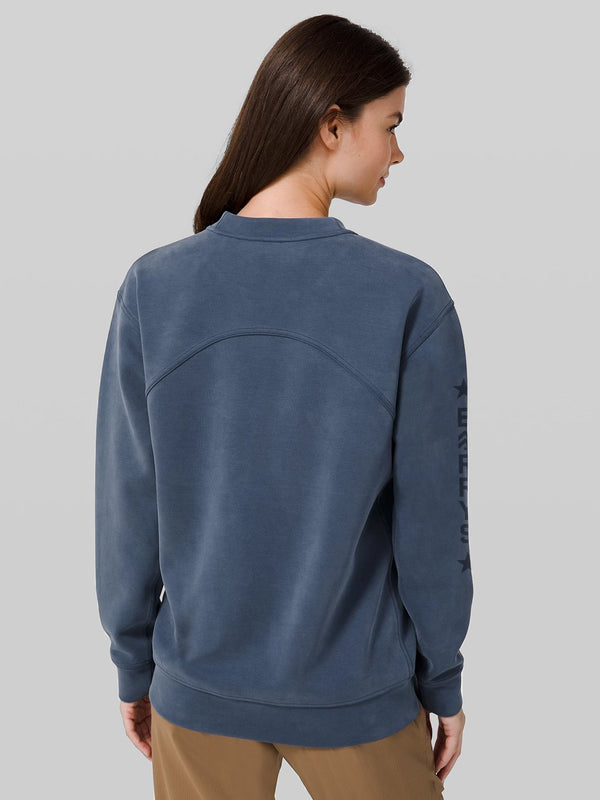 LULULEMON IRON BLUE ALL YOURS CREW