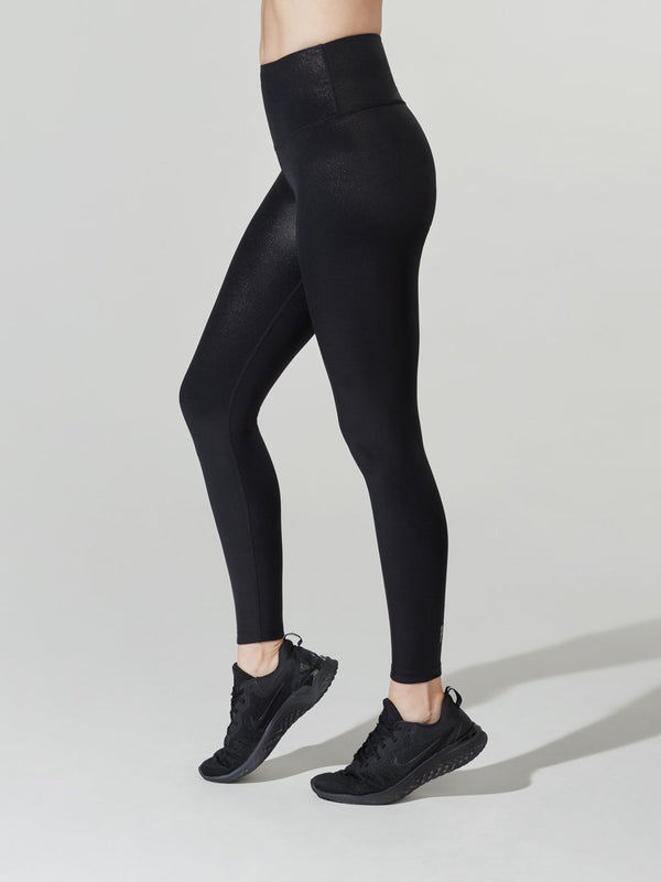 BARRY'S FIT SHINY FOIL BLACK HIGH SPEED TIGHT