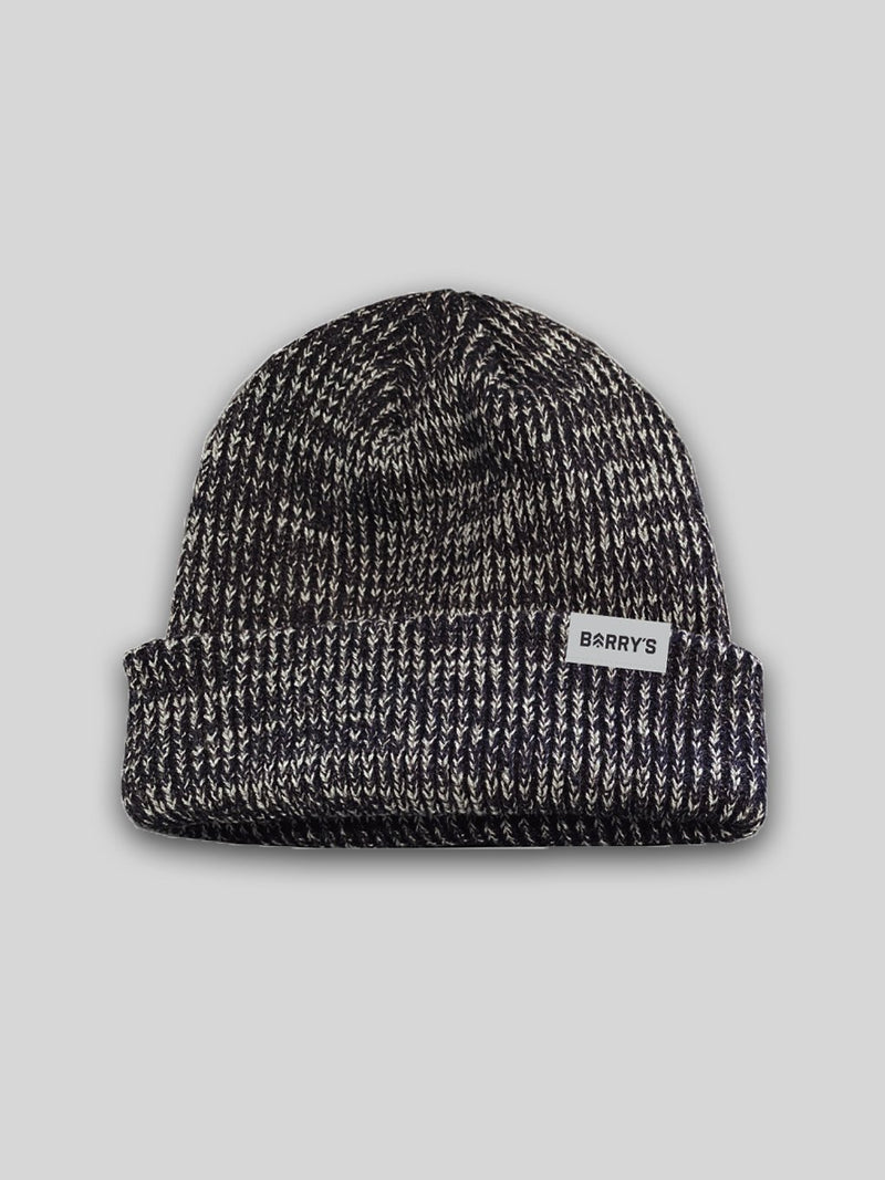 BARRY'S HEATHERED NAVY KNIT BEANIE