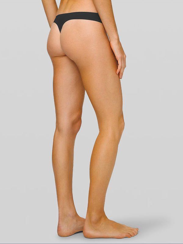 LULULEMON // BARRY'S BLACK NAMASTTAY PUT THONG
