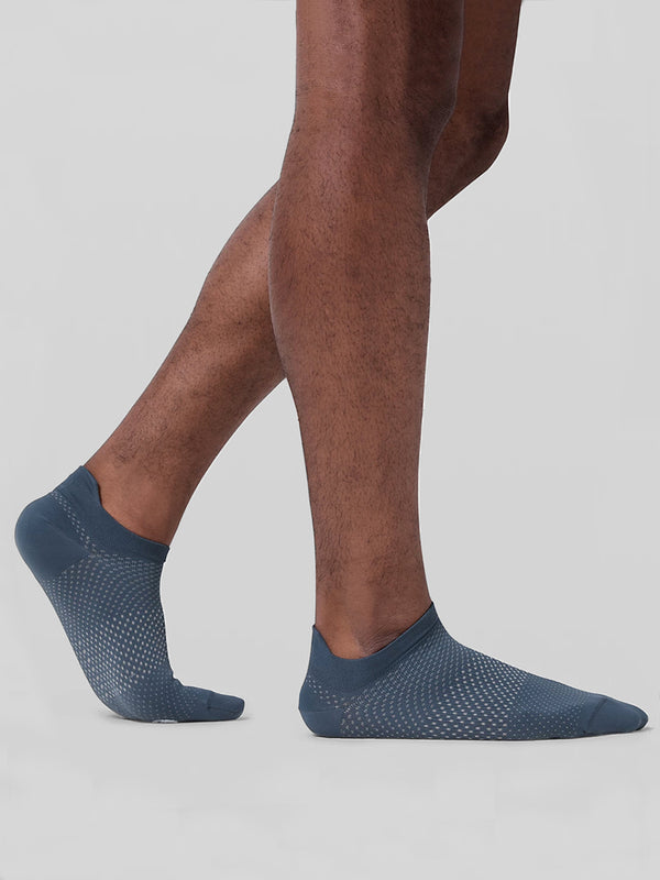 LULULEMON // BARRY'S INK BLUE SURGE SOCK SILVER