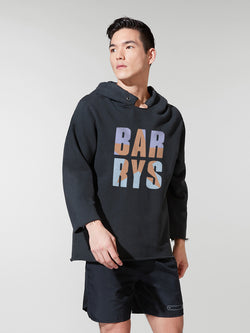 BARRY'S BLACK DECONSTRUCTED HOODIE