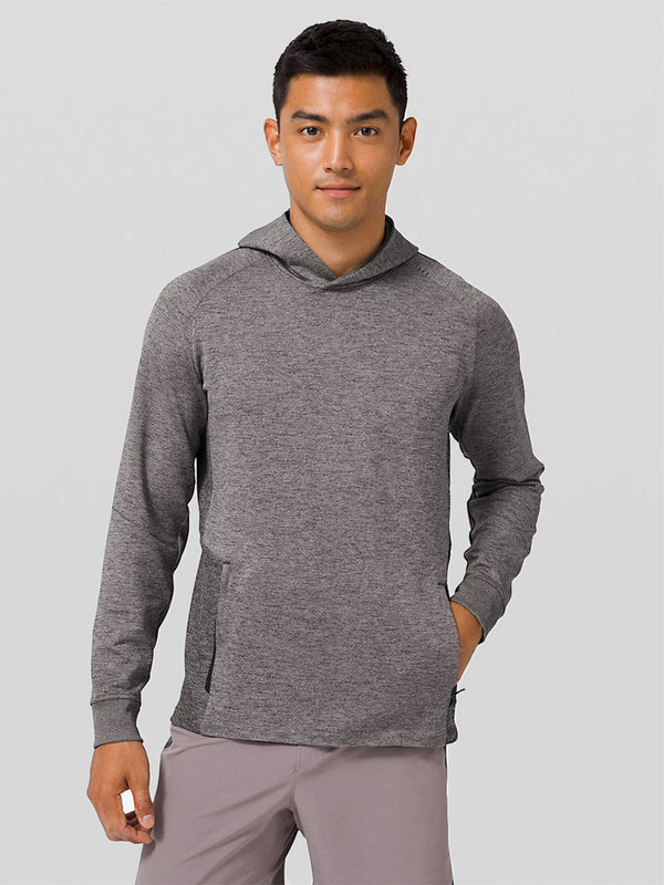 LULULEMON // BARRY'S GRAPHITE GREY TECH DOUBLE KNIT HOODIE