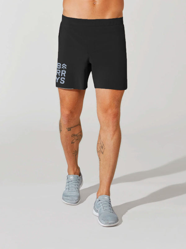 LULULEMON // BARRY'S FAMILY BLACK SURGE 6 IN LINERLESS SHORT