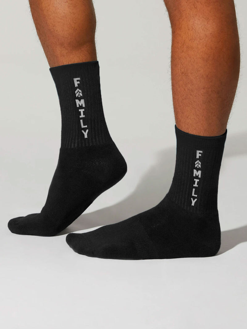 BARRY'S BLACK FAMILY SOCKS