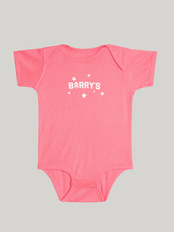 GYM BRAT HOT PINK STARS ONESIE