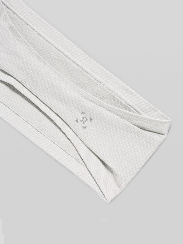 LULULEMON WHITE METAL VENT TECH HEADBAND