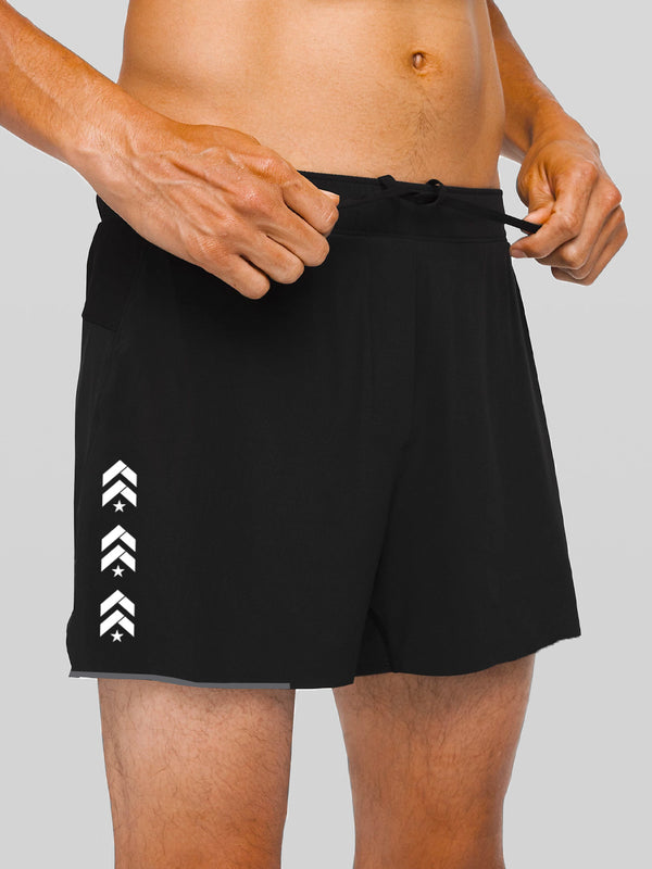 LULULEMON BLACK SURGE SHORT 4IN LINED