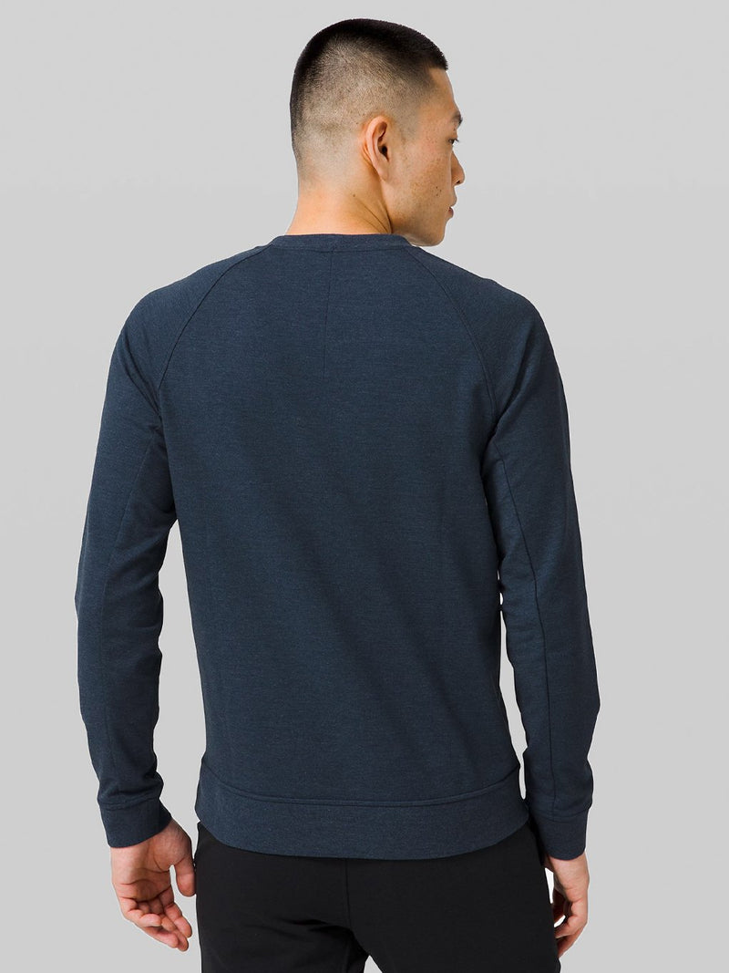 LULULEMON HEATHERED TRUE NAVY CITY SWEAT CREW LIFT