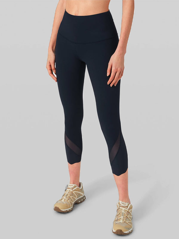 LULULEMON TRUE NAVY WUNDER UNDER HR CROP SCALLOP 23IN