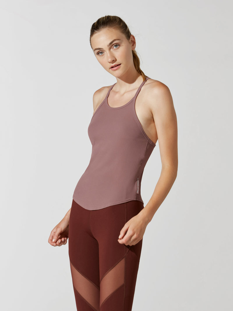 LULULEMON X BARRY'S RED DUST STRONGER AS ONE RIBBED TANK
