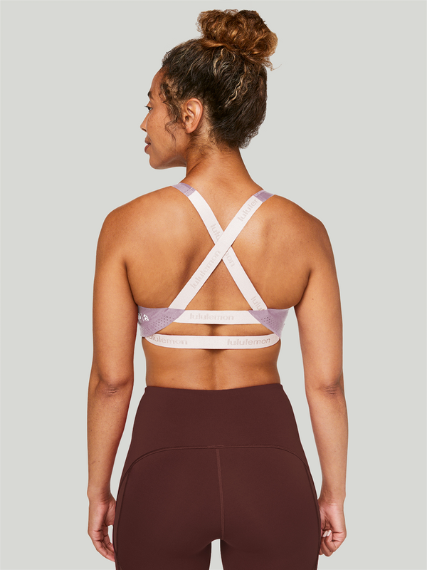 LULULEMON X BARRY'S VINTAGE MAUVE ADAPT THE STRAP BRA