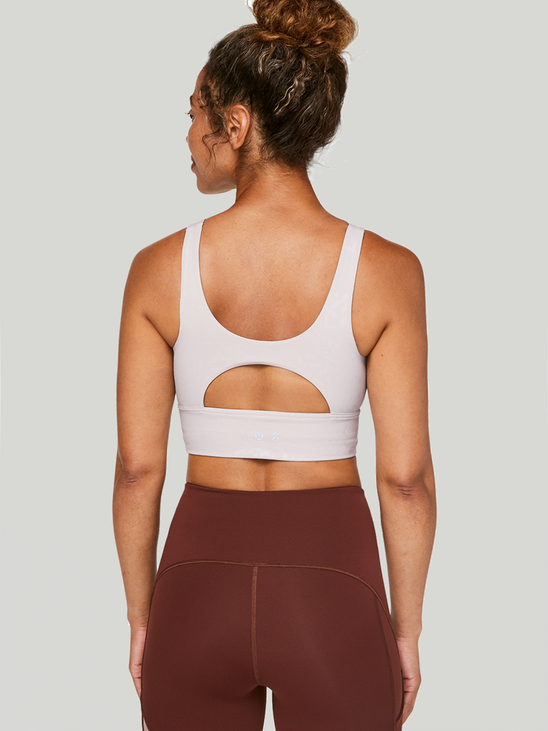 LULULEMON X BARRY'S LIGHT CHROME STRONGER AS ONE LONG LINE BRA