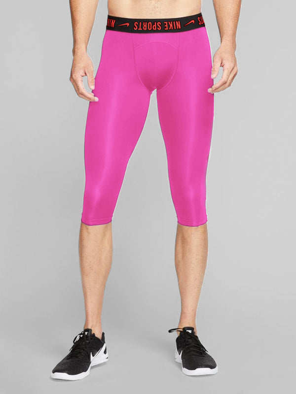 NIKE X BARRY'S FIRE PINK PRO CROP TIGHT