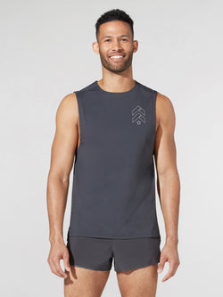 LULULEMON // BARRY'S GRAPHITE GREY PULSE MOTIVATION SL TANK