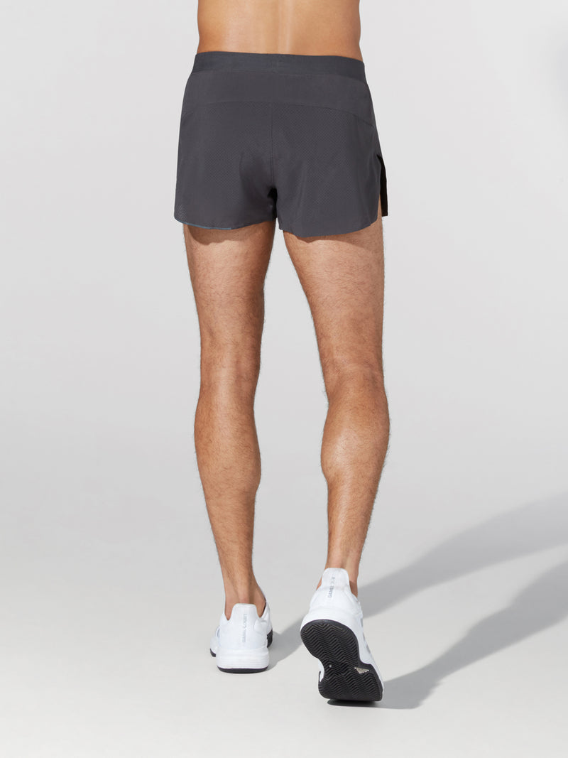 LULULEMON GRAPHITE FAST AND FREE 3IN SHORT