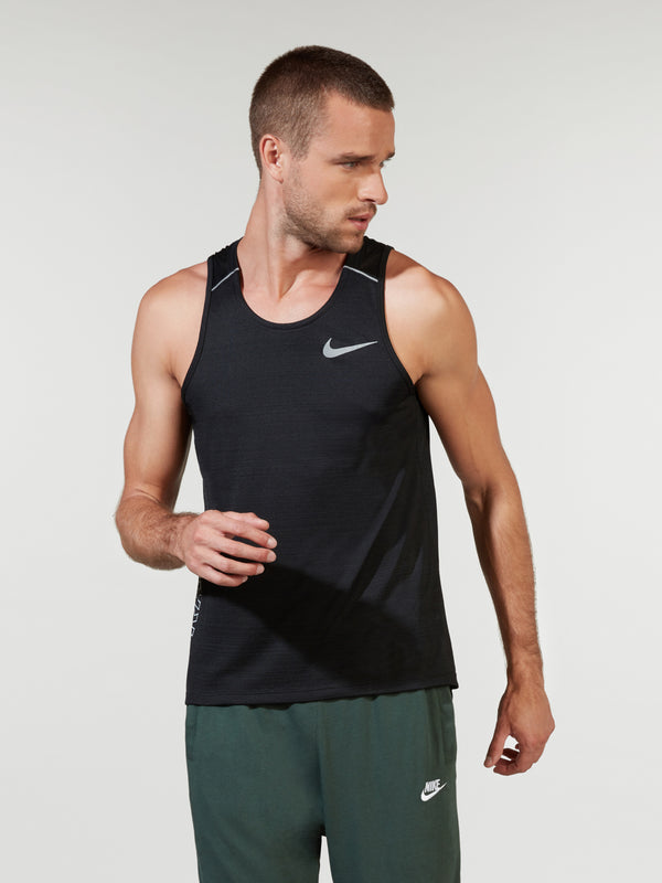 NIKE X BARRY'S BLACK DRI FIT MILER TANK
