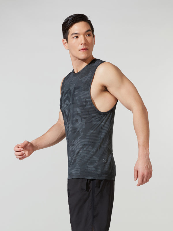 LULULEMON // BARRY'S GEO CAMO METAL VENT MUSCLE TANK