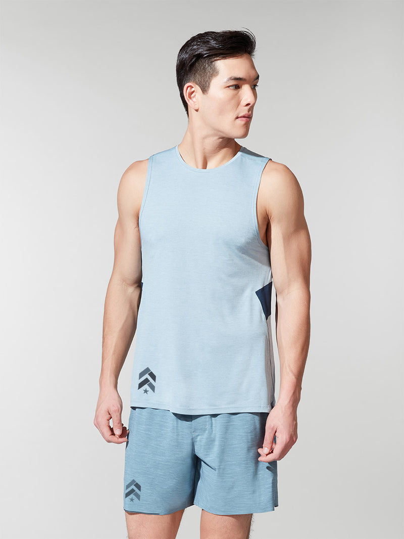 LULULEMON // BARRY'S HEATHER CHAMBRAY FAST AND FREE TANK