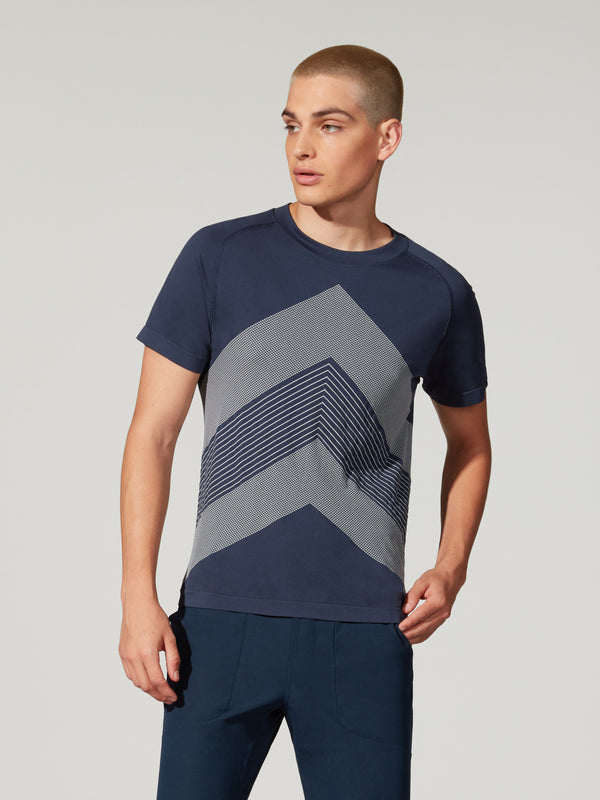 BARRY'S FIT NAVY SEAMLESS TEE