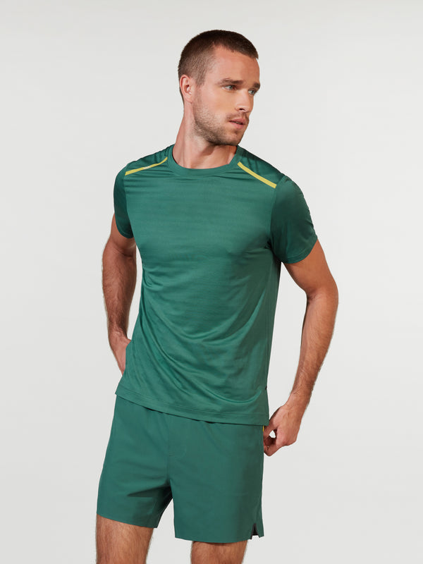 RHONE X BARRY'S MALLARD GREEN SWIFT SHORT SLEEVE TEE