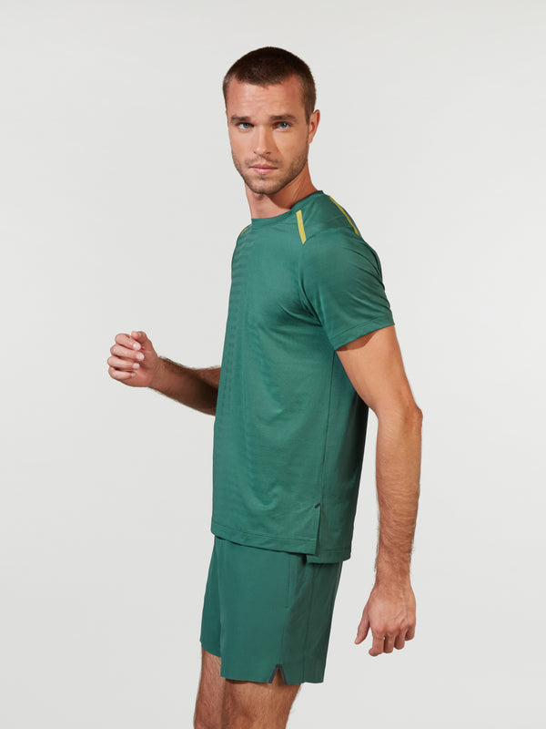 RHONE MALLARD GREEN SWIFT SHORT SLEEVE TEE