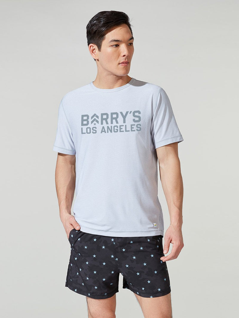 VUORI X BARRY'S HEATHER GREY LOCATION SPECIFIC FLUX TEE