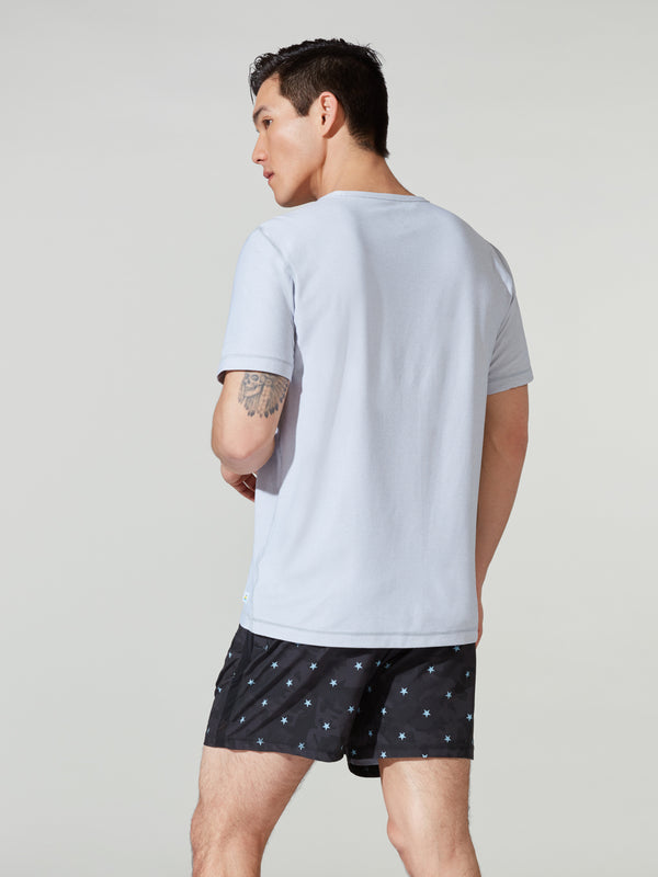 VUORI X BARRY'S HEATHER GREY FLUX TEE