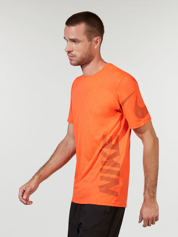 NIKE X BARRY'S RUSH ORANGE BREATHE TRAINING TOP