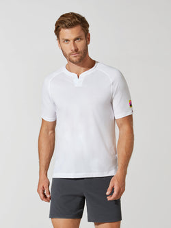 RHONE X BARRY'S NOTCH PERFORMANCE PIQUE TEE