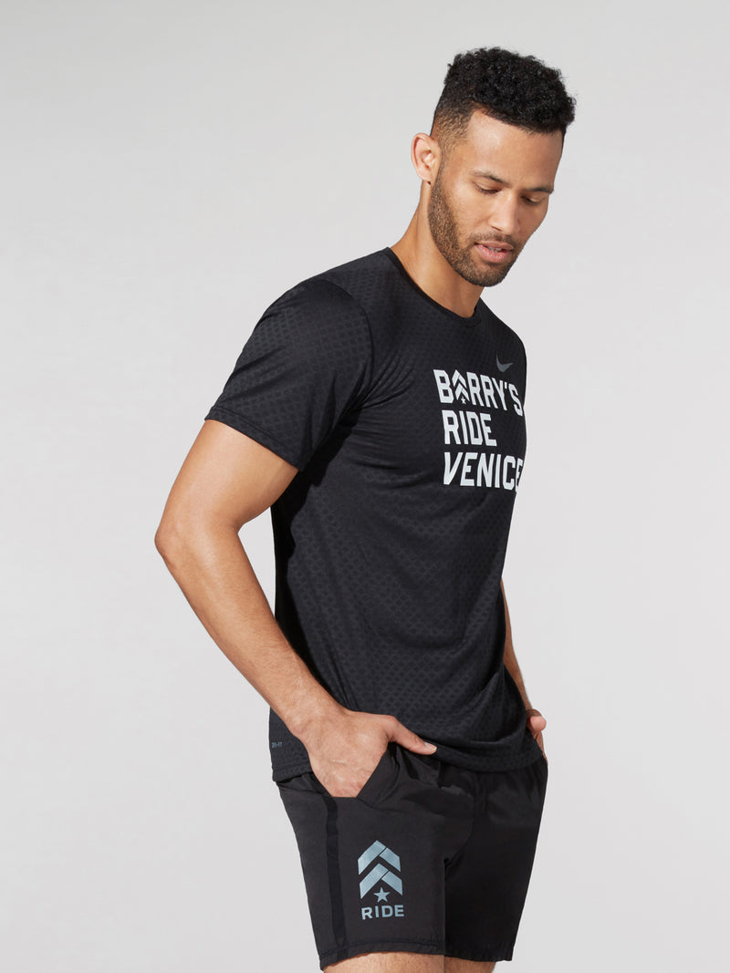 BARRY'S X NIKE RIDE VENICE BLACK BREATHE TEE