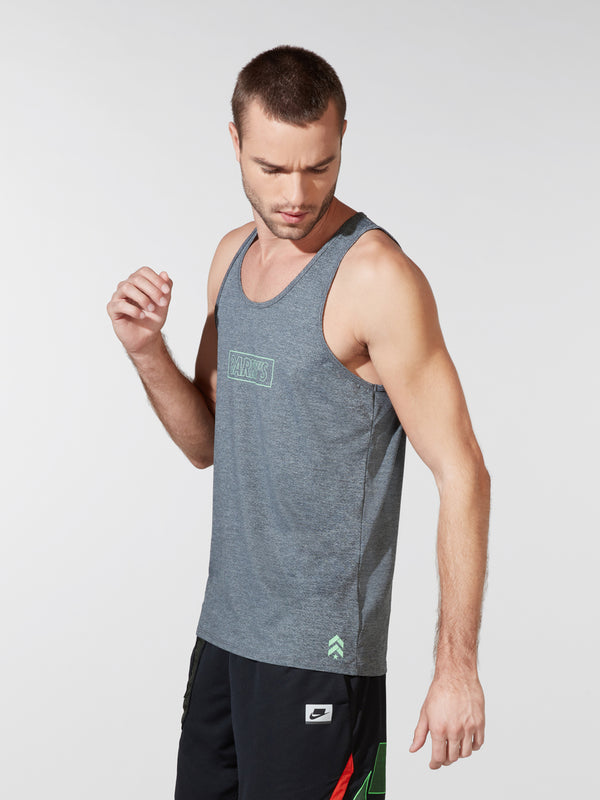 BARRY'S FIT HEATHER GREY BASIC TANK