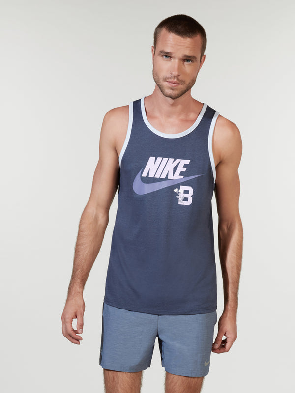 NIKE X BARRY'S THUNDER BLUE ACE LOGO TANK