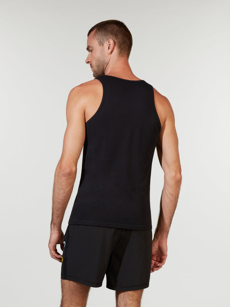 BARRY'S BASIC BLACK JERSEY TANK