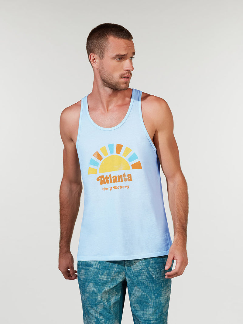 BARRY'S CELESTINE BLUE LOCATION SPECIFIC BASIC JERSEY TANK