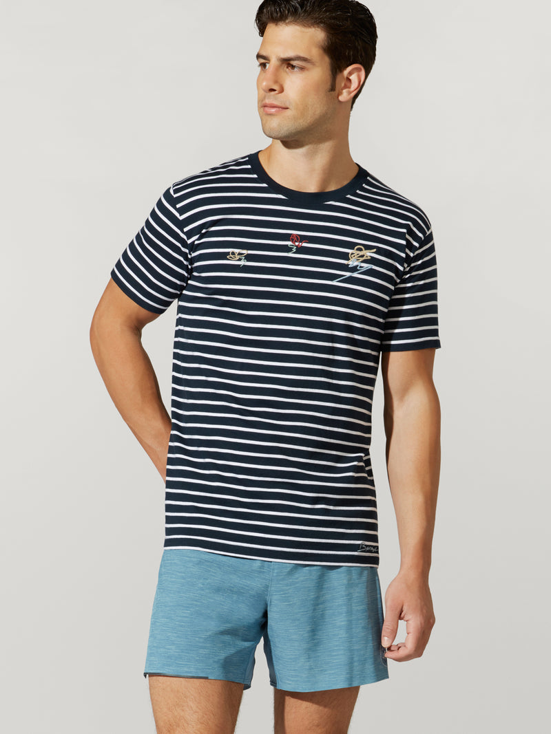 BARRYS STRIPED TEE