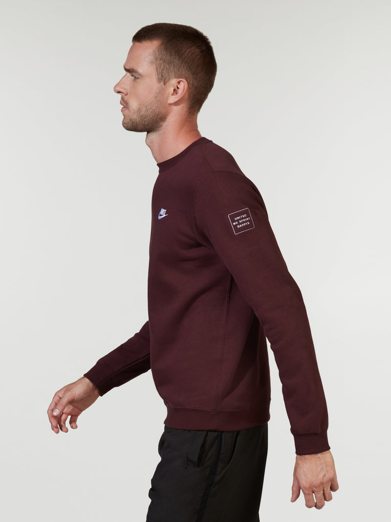 NIKE X BARRY'S BURGUNDY CRUSH SPORTSWEAR CREW