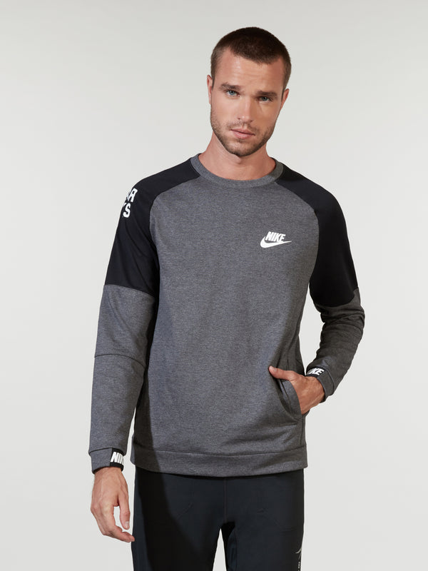 NIKE X BARRY'S DARK GREY HEATHER ADVANCE CREW