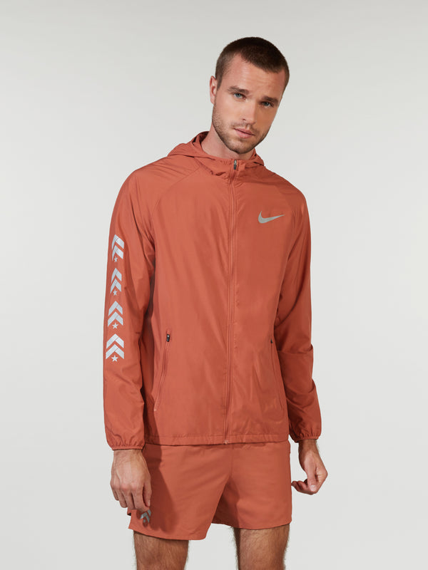 NIKE X BARRY'S DUSTY PEACH ESSENTIAL HOODED RUNNING JACKET