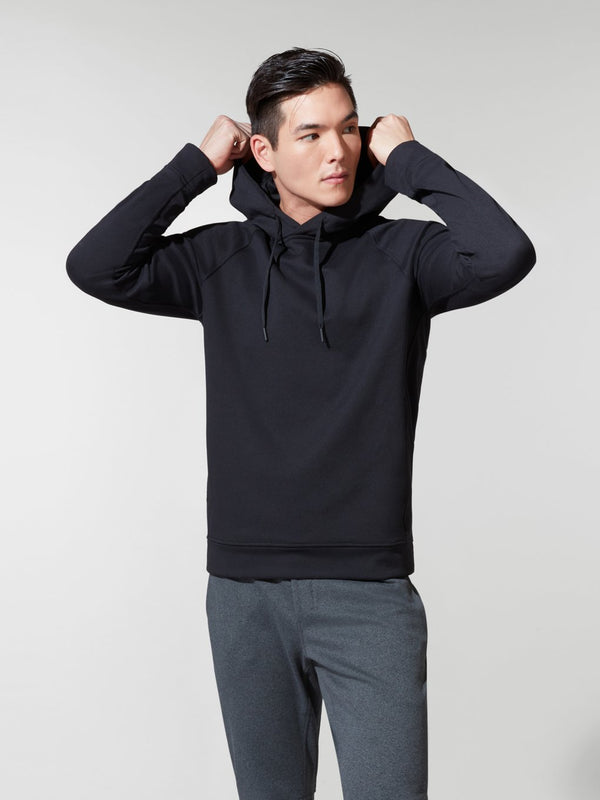 LULULEMON // BARRY'S HEATHER BLACK CITY SWEAT PULLOVER HOODIE