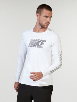 NIKE X BARRY'S WHITE PRO LONG SLEEVE
