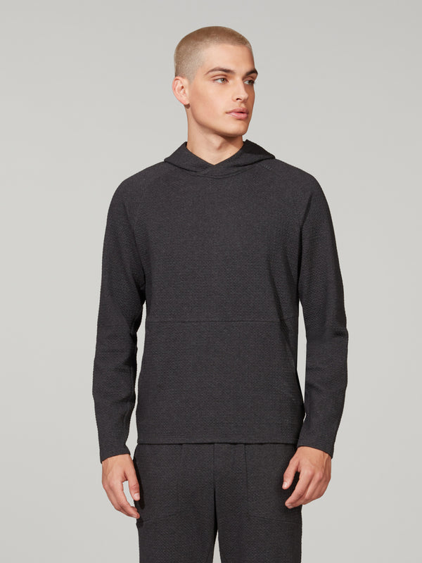 LULULEMON HEATHERED BLACK AT EASE HOODIE