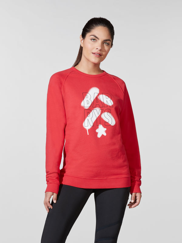 BARRY'S CRIMSON UNISEX SWEATSHIRT