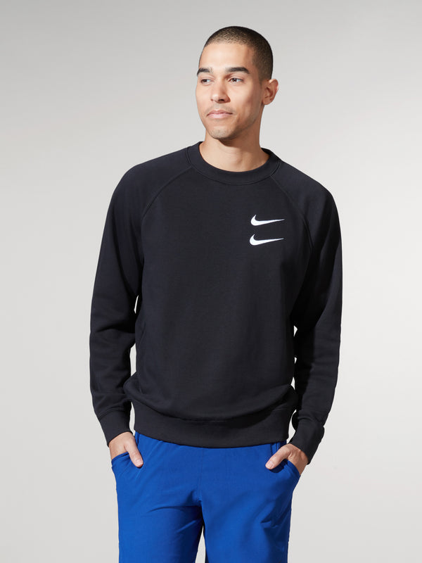 NIKE BLACK SPW SWOOSH LS TOP