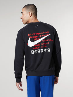 NIKE X BARRY'S BLACK SPORTSWEAR SWOOSH LS TOP