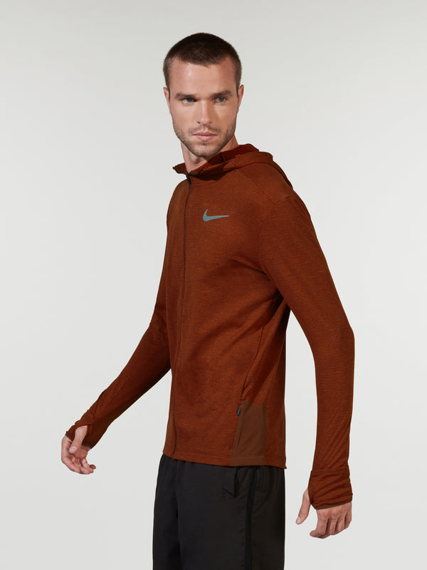NIKE X BARRY'S PUEBLO BROWN RUNNING HOODIE