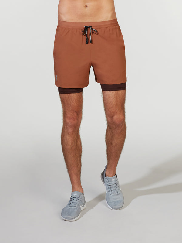 NIKE DUSTY PEACH DRI FLEX STRIDE SHORT