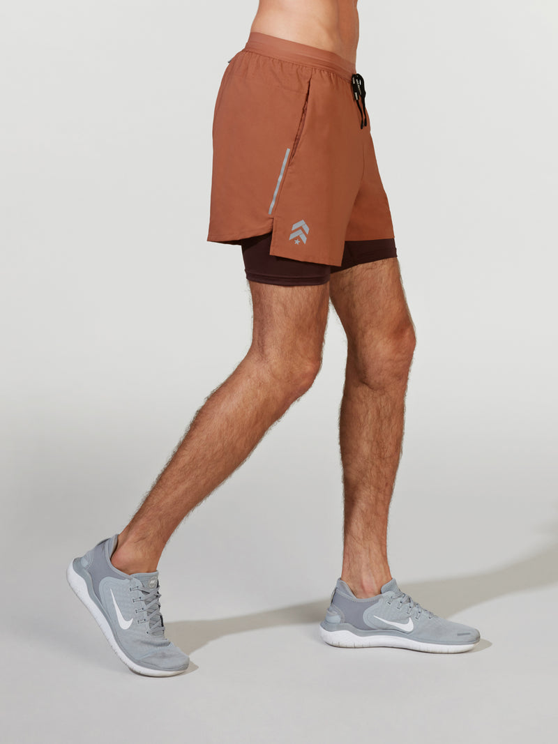 NIKE X BARRY'S DUSTY PEACH DRI FLEX STRIDE SHORT