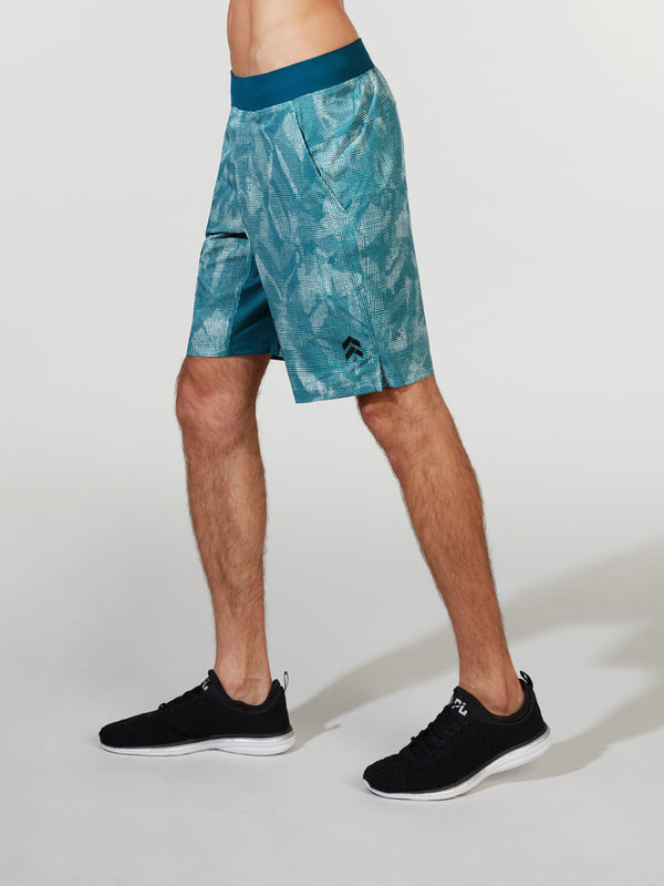 LULULEMON BERMUDA TEAL T.H.E. LINED SHORT