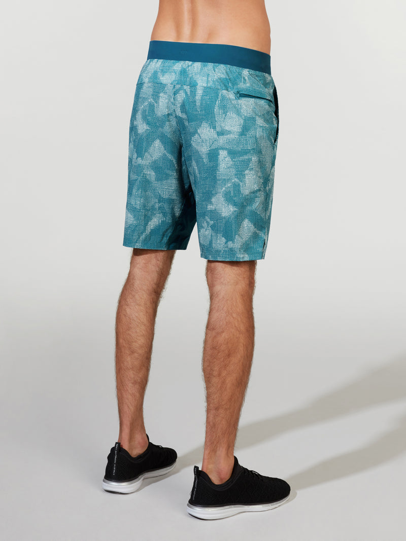 LULULEMON X BARRY'S BERMUDA TEAL T.H.E. LINED SHORT